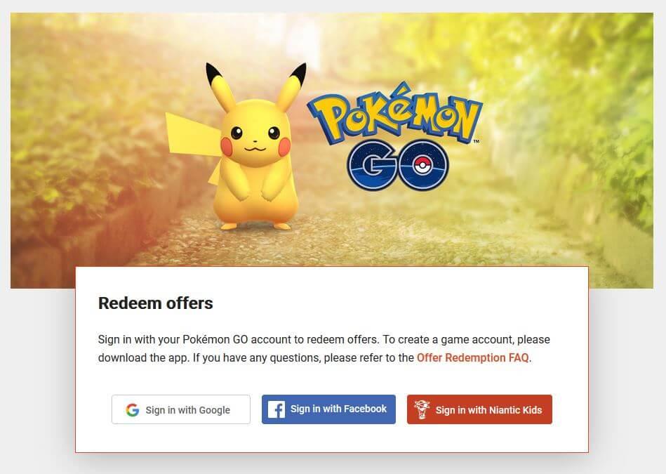 pokemon go promo redeem