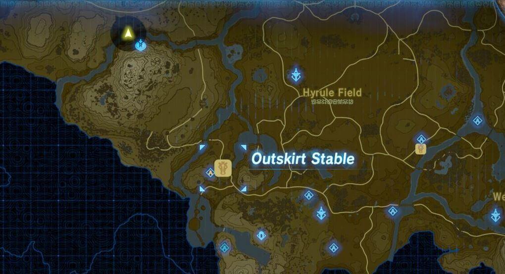 Zelda Breath of the Wild Ritto Village Route