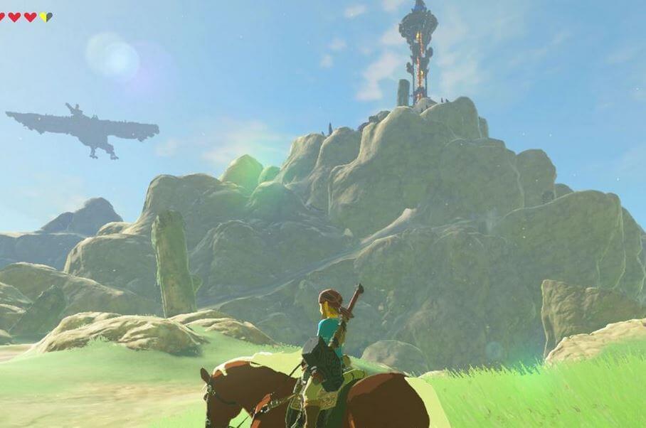 Tabantha Tower Ritto Village Zelda lokasi