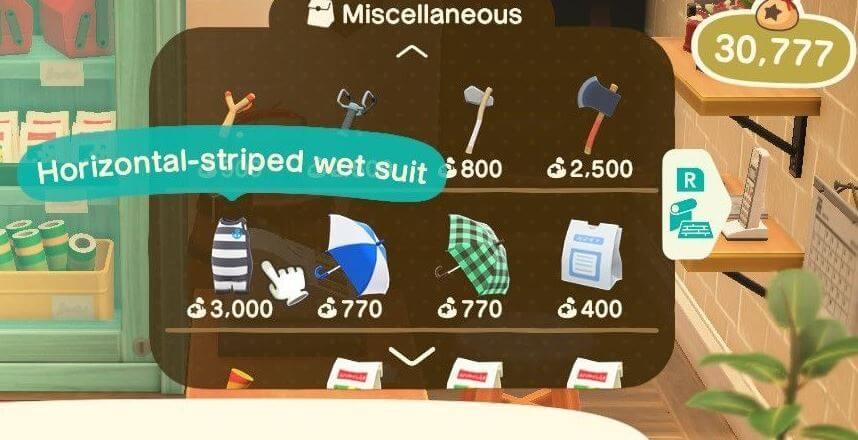Animal Crossing Wetsuite