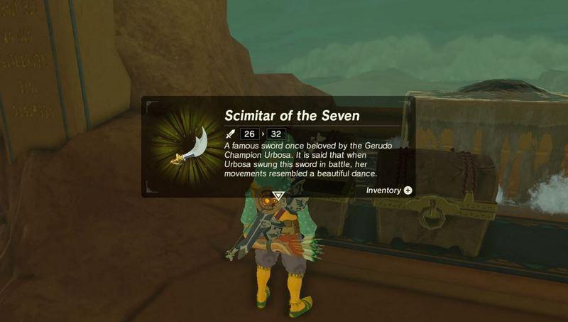 Senjata Zelda Scimitar of the Seven